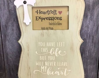 Life Memorial Picture Frame, Distressed Wood Photo Frame