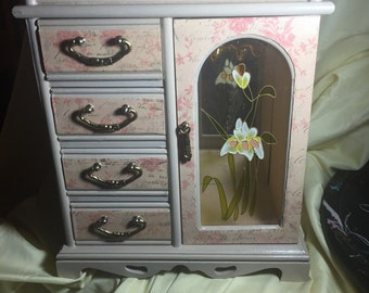 Vintage Upcycled Jewelry Box