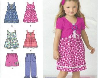 Simplicity 2268, Girls, Dress, Girls Top, Girls Pants, Shrug, Sewing Pattern, Girls Bolero, Girls Dress, Childs,  Size 3-4-5-6-7-8, Uncut