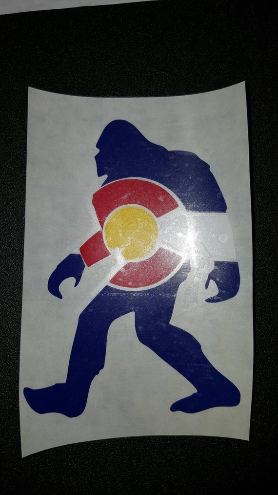 Bigfoot Colorado Decal Colorado Decal Colorado Yeti Decal