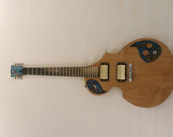 Vigilant Viola - Custom built electric guitar - Les Paul Style - Made in Victoria