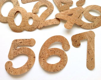 Self-Adhesive Cork Numbers, Die Cut Numbers, Self-Adhesive Cork Paper Numbers for Scrapbooking, Cardmaking & Craft Projects