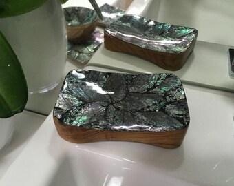 Coastal Paua Mother of Pearl Shell Soap Dish