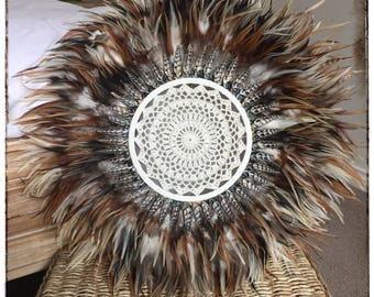 Feather & Shell Juju Hat Wall Hanging