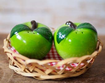 Green Apple Salt and Pepper Pots