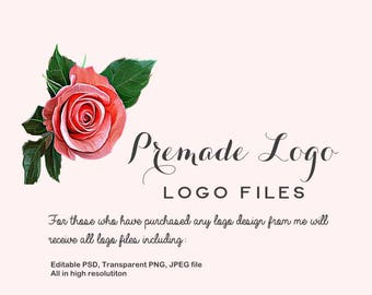 Premade Logo Files - All Files included - PNG, JPEG, and editable PSD