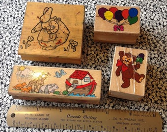 Vintage Rubber Stamp Lot, Child Themed, Scrap Booking