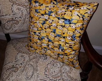 "Minions 16"" x 16"" Decorative Pillow (with Insert)"