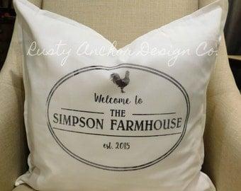Personalized Farmhouse Pillow