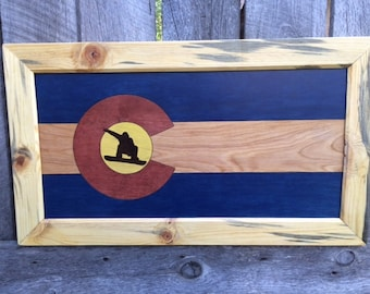 Colorado Flag Snowboarder. Made to order.
