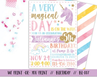 Unicorn Birthday Invitation Unicorn Invitation Magical - Birthday invitation in germany