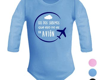 Unisex baby body is not an airplane. Parody. Original gift. Fun baby body. Long sleeve.