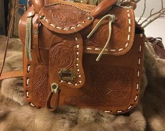 Leather Saddle Purse