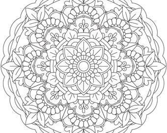 "Printable Coloring Page - Mandala ""Patience"""