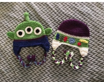 Toy story crochet hats