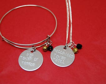 Hollywood Tower Hotel Terror Bangle or Necklace