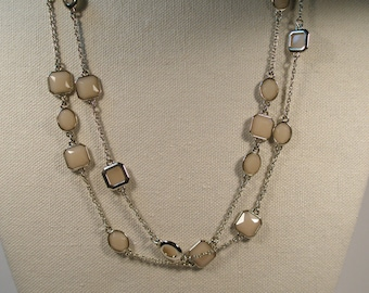 Ann Taylor multi link and stone necklace
