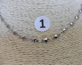 Necklaces/stainless steel chains in 5 patterns listed here and numbering