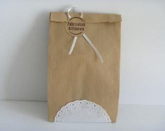 10 pouches 12 cm * 19 cm Kraft gift bags
