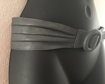 Vintage Sue De Mone Leather Belt