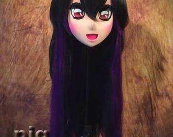 New old stock Purple/Black animegao kigurumi mask