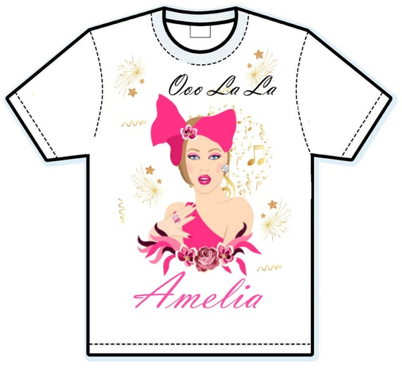 Oooo la la fancy girl personalized shirt