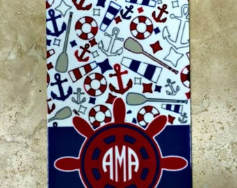 Nautical Cell Phone Case for iPhone Customized with Your Initials