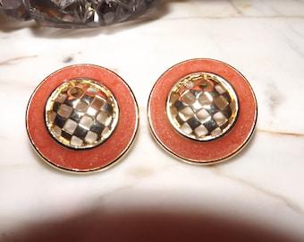 Vintage Ernst Bek Designer Signed Earrings