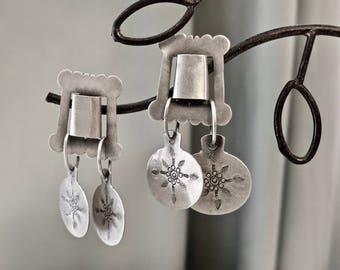 Mujeres Artisanias silver earrings, Chile