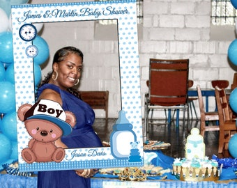baby shower photo booth frame baby shower frame prop teddy bear frame baby shower photo booth prop baby shower selfie frame 1001190