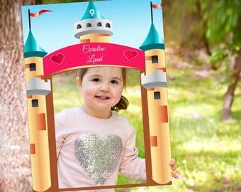 Large Castle Fairytale Photo booth Prop , Princess Castle Photo Booth , Princess Birthday Photo Prop Frame , Castle Selfie frame ;1001177