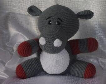 hippopotameau crochet amigurumi toy