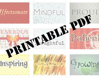 Strength Cards PDF Printable Cards 10 - 18 (of 50)