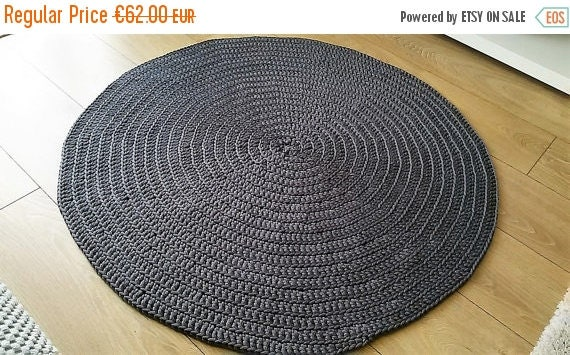 Perfect Crochet Carpet // Grey Handmade carpet // Handmade crochet carpet // Crochet rug // Polyester rope Carpet // Polyester rope Rug
