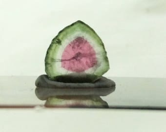 2.25 ct watermelon tourmaline slice from Kunar,Afghanistan E12