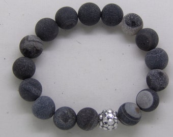 B1277 Suede like Beaded Bracelet