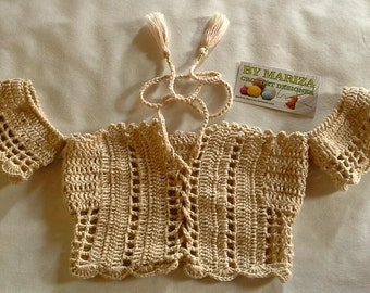 Girls Crochet Cropped .Crochet kids Cropped.Exclusive kids Cropped hand made creations