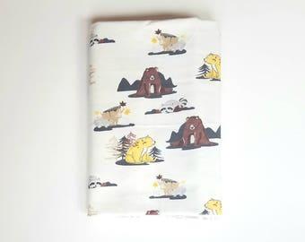 Little Bears Swaddle Blanket / Baby Shower Gift / Baby Boy Gift / Newborn Swaddle Blanket / Bear Receiving Blanket / Cute Swaddle Blanket