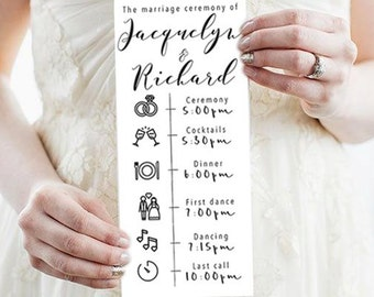 Customizable Wedding Program Template