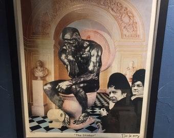 1996 Nelson De La Nuez - The Stinker - Signed & Numbered 652 of 850 in Ink - Framed - Pop Art