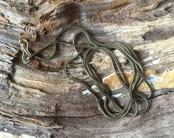 CLEARANCE 31 inch solid brass snake chain