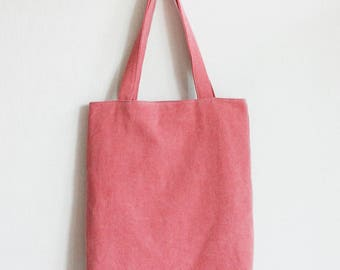 Pink Eco bag, canvas bag, book bag, pink tote bag