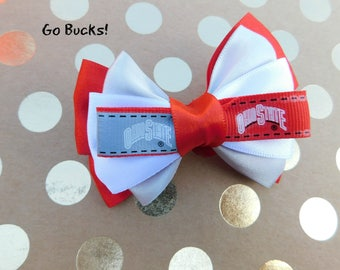 Ohio State Buckeyes Hair Bow