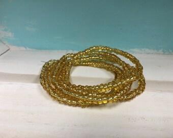 Gold Seed Bead Bracelets