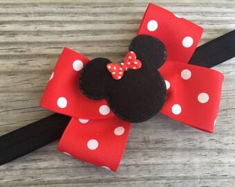 Minnie Mouse Bow Headband / Minnie Mouse Bows