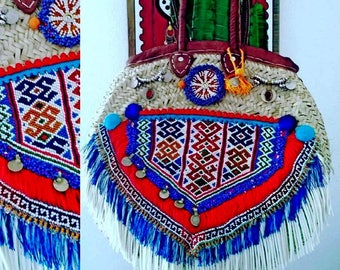 Ethnic bag handmade artisanal round /Panier SUMMER 2017