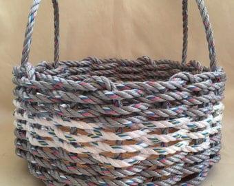 Medium Hand Woven Rope Basket