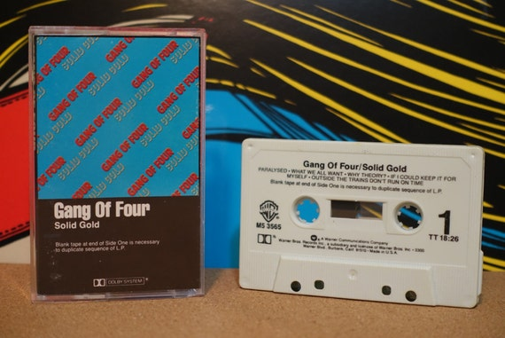 Solid Gold by Gang Of Four Vintage Cassette Tape