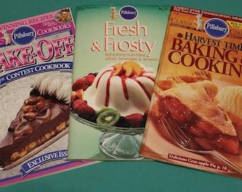 Pillsbury Classic Cookbooks  #54 - #129 - #134 ~ 1980's & 1990's Deliciousness