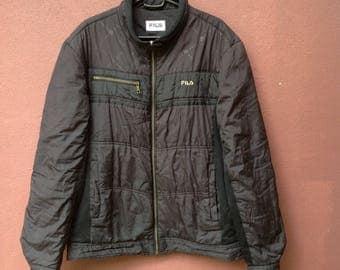 Vintage 90s Fila Printed Zipper Jacket/Sweater/Fila Italy